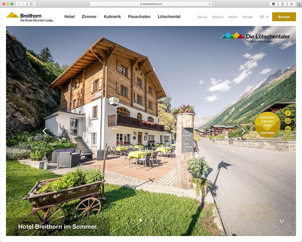 Referenz Webseite der indual GmbH, Webentwicklung und Hosting, Brig