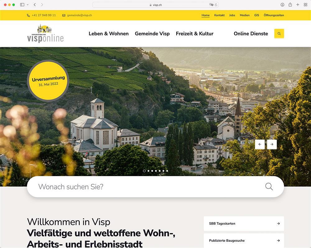 Referenz Webseite indual GmbH, Webentwicklung und Hosting, Brig