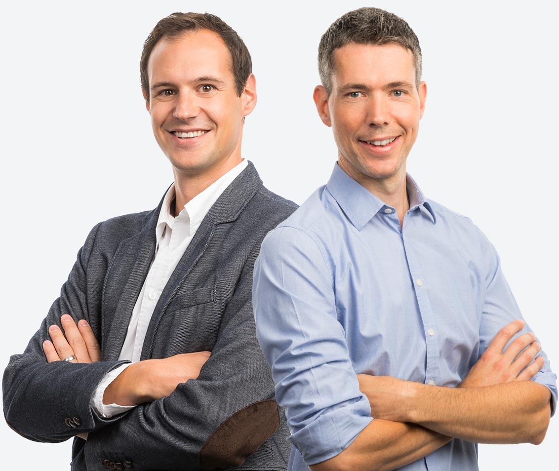 Emanuel Zuber, Tobias Schalbetter, Geschäftsinhaber und Geschäftsführer indual GmbH