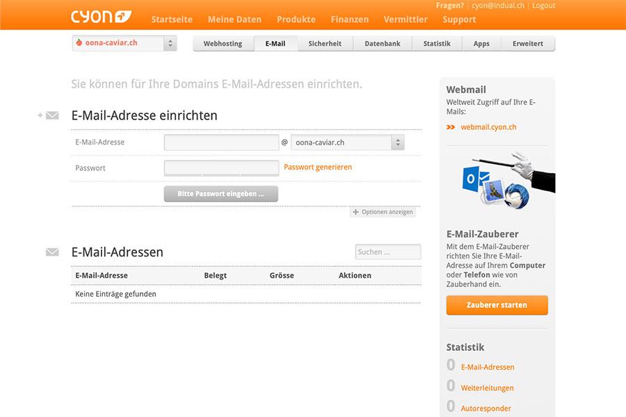 Webspace oder Hosting für E-Mails und Websites