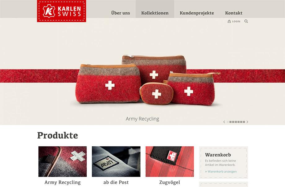 Online-Shop - Lokale Produkte online weltweit verkaufen - Beispiel Karlen Swiss