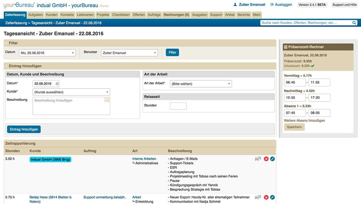 yourBureau, Webbasierte Schweizer Office Lösung
