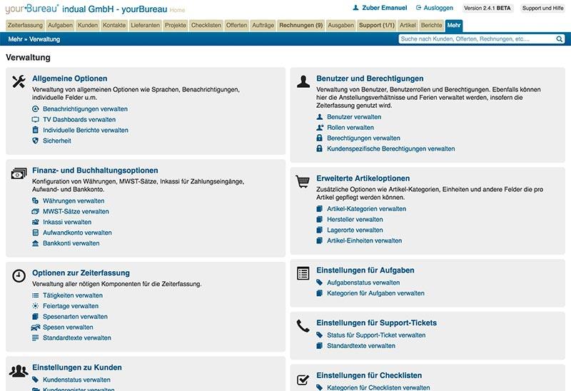 yourBureau - Viele Möglichkeiten, Webbasierte Schweizer Office Lösung
